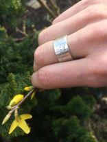 Floraler Ring, Silber 935ér, Workshoparbeit